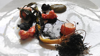 Lobster-poached-with-meyer-lemon-burnt-leek-shellfish-bisque-Eleven-Madison-Park-Stella-Dacuma-Schour-food-photography