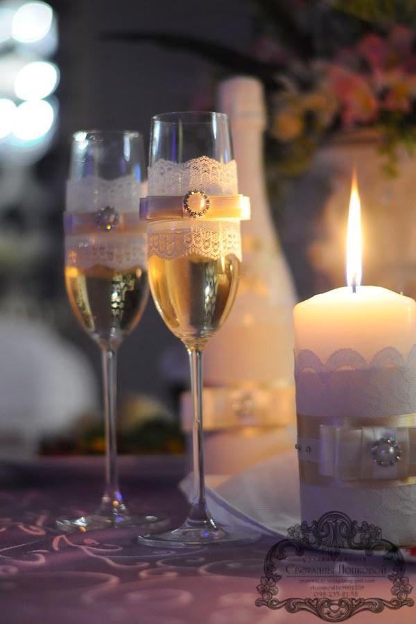 бокалы для свадьбы своими руками