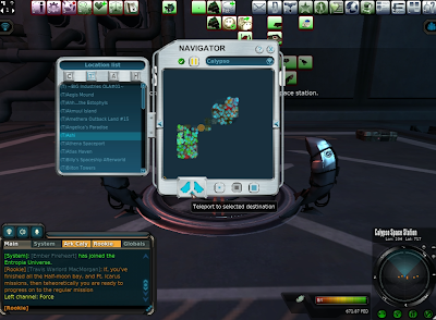 Entropia Universe - TPing Down To Planet