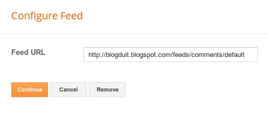 pengaturan alamat feed blogspot