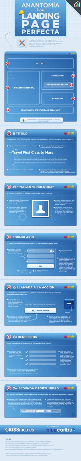 Infografía de una Landing Page