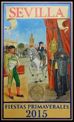 Cartel de las Fiestas de Primavera de Sevilla 2015 - Autor: Francisco Ayala