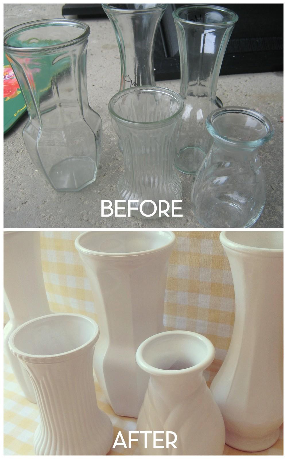 home made modern faux milk glass. Black Bedroom Furniture Sets. Home Design Ideas