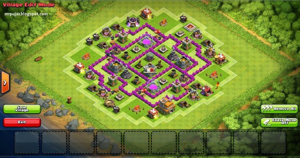 desain farming base th level 7 coc