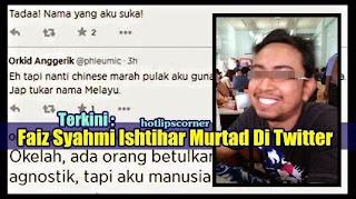 Lelaki Islam Kini Murtad Dan Declare Di Twitter