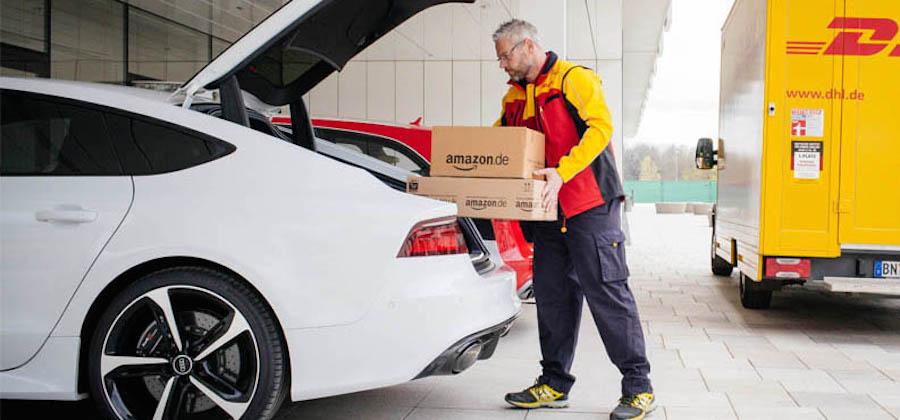 Amazonがクルマのトランクに商品を届けるサービスを発表
