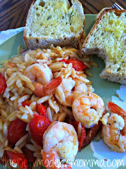 Skillet Shrimp and Orzo | Tasty Tuesday #Recipe Swap - The New Modern ...