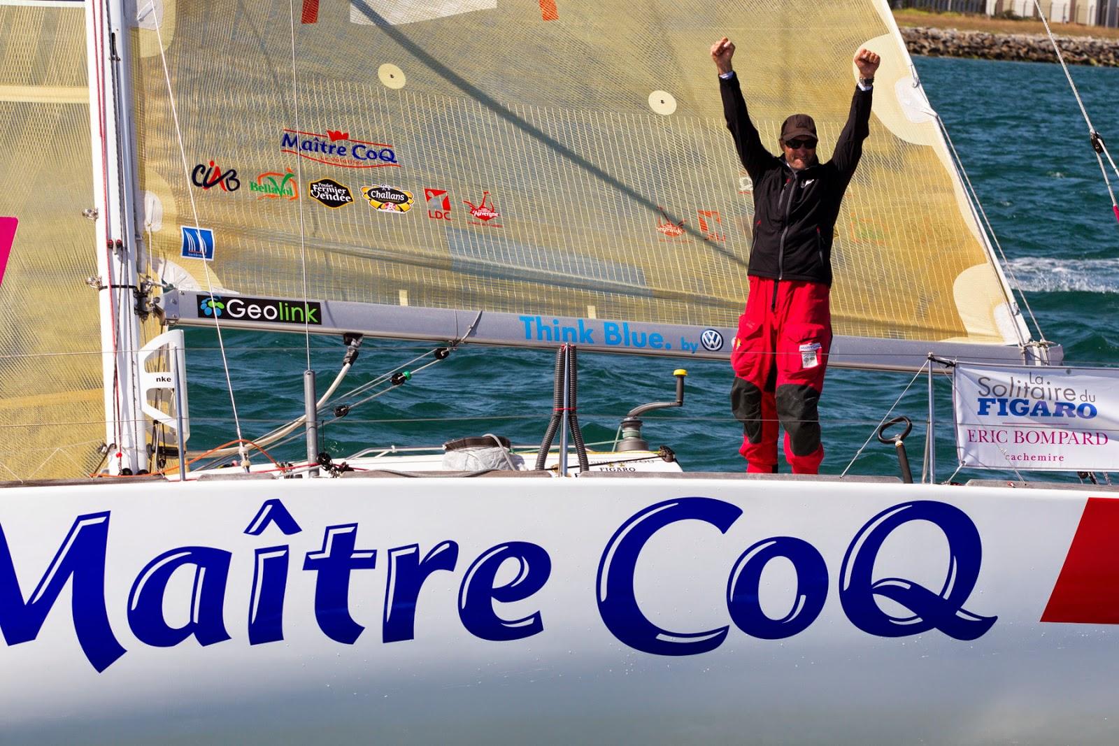 Troisième victoire sur la Solitaire du Figaro pour Jérémie Beyou, par A.Courcoux
