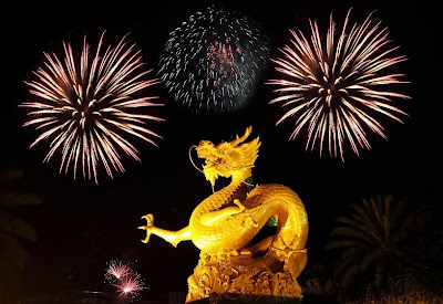 fireworks, New Year's, China, Chinese New Years, Chinese dragon