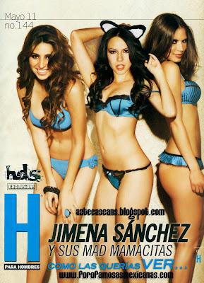 Fotos Jimena Sanchez Revista H para Hombres Mayo 2011