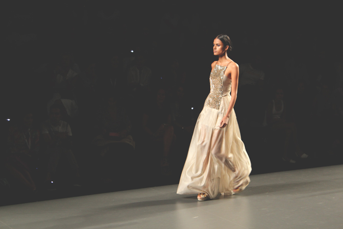 Ion Fiz, Golden, maxi dress, MBFW Madrid, PV13