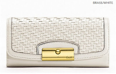 COACH Kristin Woven Leather Slim Envelope 49100