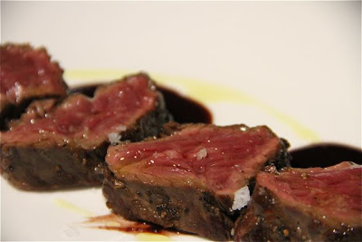 Onglet de Buey Charolais con Salsa Priorato. Rest. Caldeni. Blog Esteban Capdevila