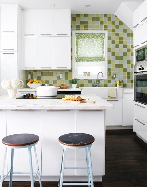 Dise o de cocinas con azulejos cer micos - Azulejos decorativos para cocina ...