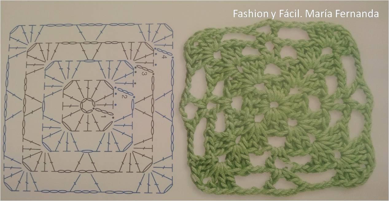 Fashion y Fácil : Cuatro esquemas diferentes de motivos cuadrados a ...