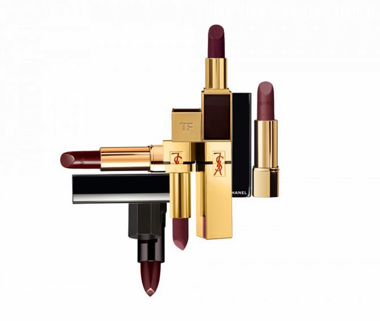 Plum lipsticks YSL Chanel Rouge Allure intense velvet matte YSL Pur Couture The Mats Serge Lutens Couvre Feu Tom Ford Black Orchid lipstick