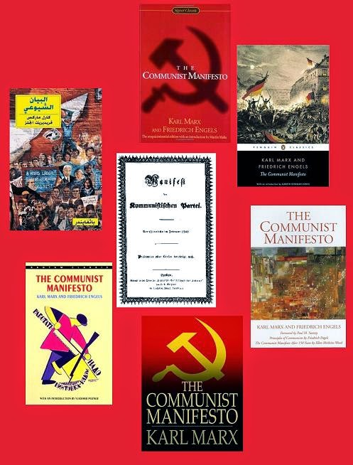 the communist manifesto by karl marx and Manifesto issued by marx in 1848, regarded as founding documents of communism.