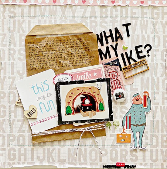 Scrapbooking with a found object: Sian Fair for Get It Scrapped