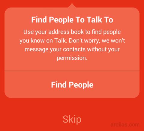 Cara Mendaftar / Membuat Akun di Aplikasi Path Talk - Android - Skip dalam mencari teman