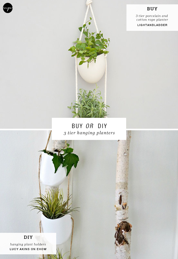 BUY OR DIY: 3 tier hanging planters