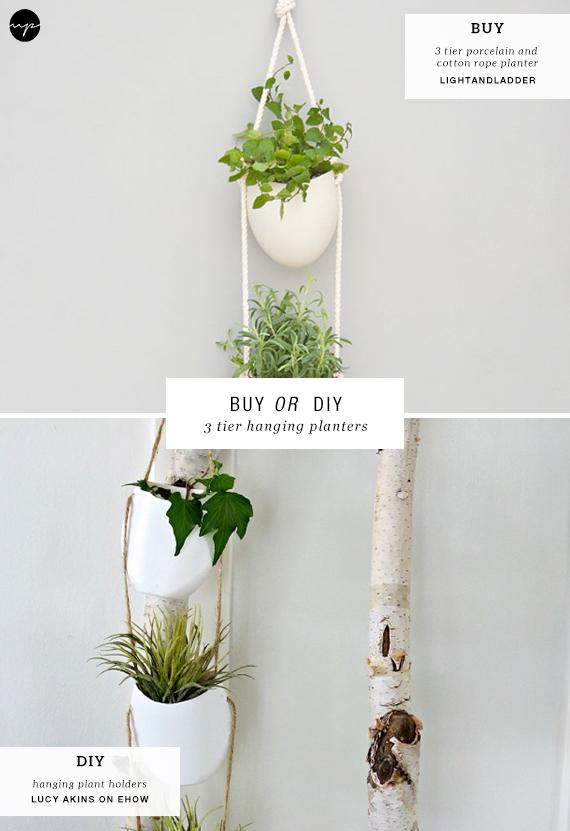 BUY OR DIY: 3 tier hanging planters