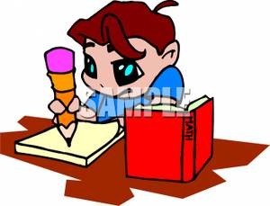 Cartoon_Child_Doing_Math_Homework_Royalty_Free_Clipart_Picture_090819 ...