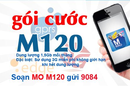 Dung lượng gói cước M120 của Mobifone