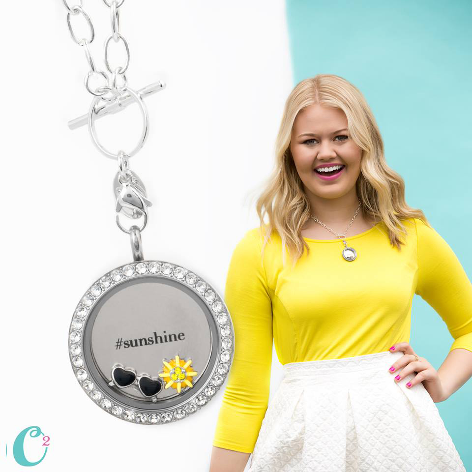 Sunshine - Inscriptions Plate by Origami Owl available at StoriedCharms.com