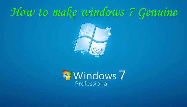 how to make windows 7 genuine using command prompt for free