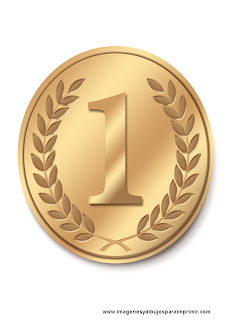 Medalla escolar para imprimir