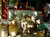 greek urns, sunshine and shadows in Zakynthos