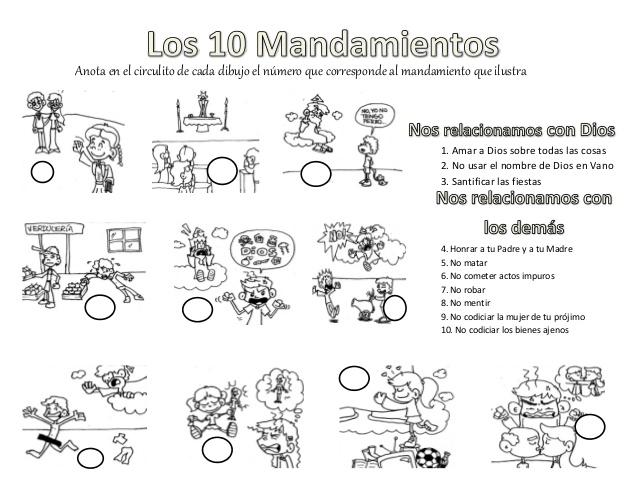 CARTILLA DE 3° (LOS DIEZ MANDAMIENTOS)