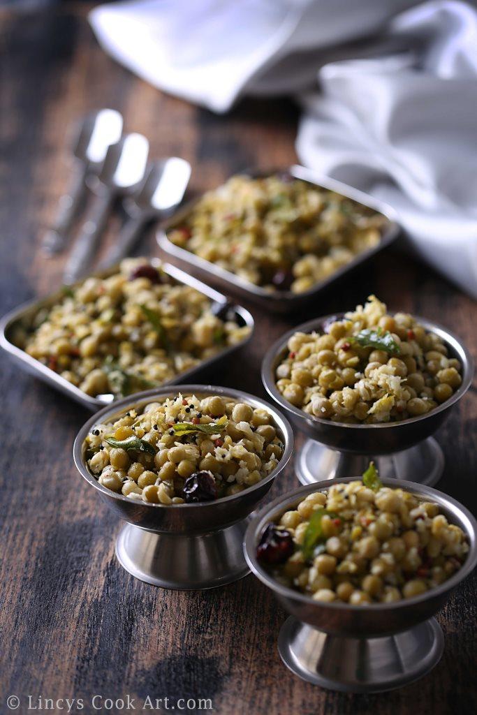 Dried green peas sundal recipe