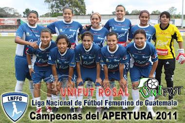 CAMPEONAS DEL APERTURA  2011 DEL FUTBOL FEMENINO DE GUATEMALA