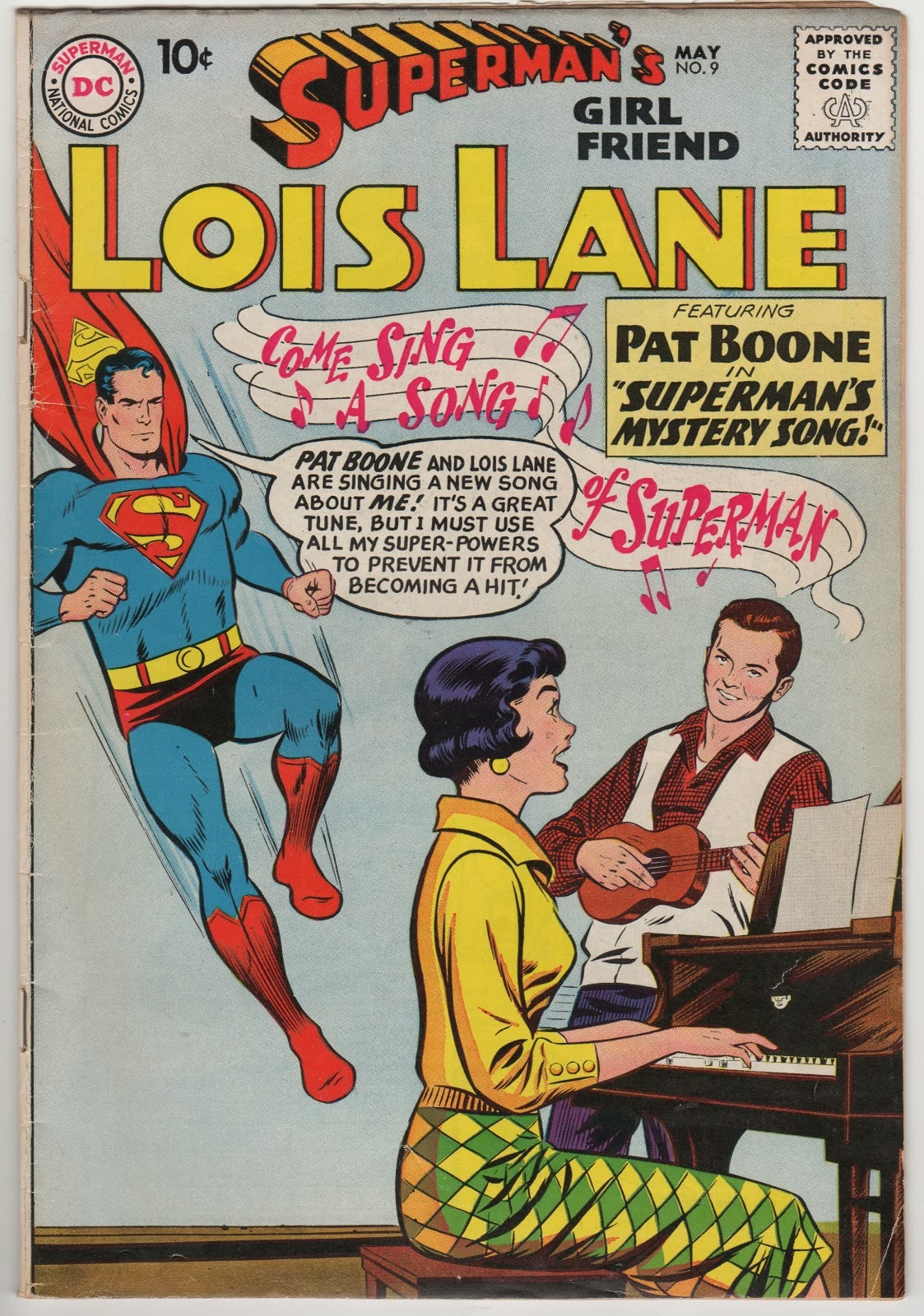 Lois Lane explanation of the band name - Superman's Girl Friend Lois Lane 9 - cover