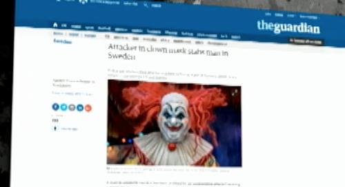 Aterrorizante brincadeira dos palhaços vira caso de polícia