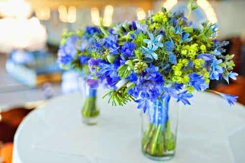 Green And Blue Wedding Theme Flowers - Fresh Flowers