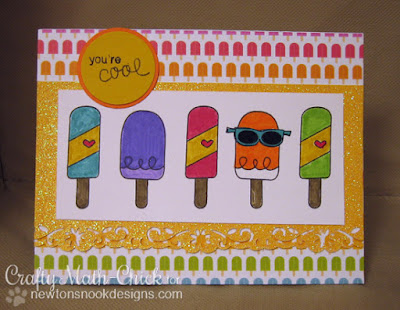 You're Cool Popsicles Card by Craft Math Chick | Newton's Nook Designs