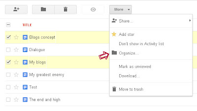 organize files in google drive