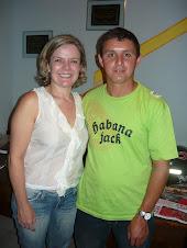 Ministra-chefe da Casa Civil Gleisi Hoffmann e o Presidente do SINTAC Èlio Alves Cardoso.