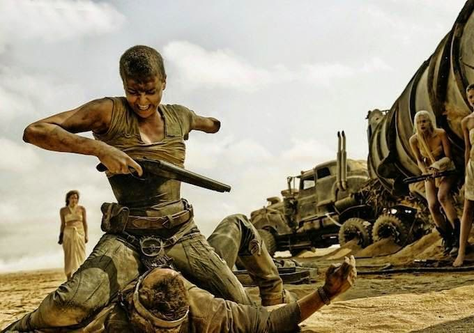 Charlize Theron em 'Mad Max: Fury Road'