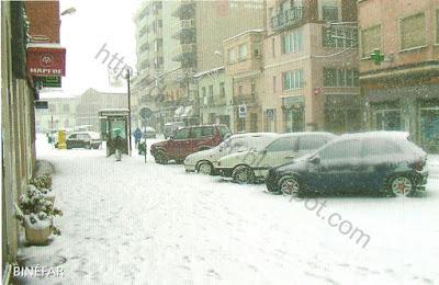 Binefar nevado