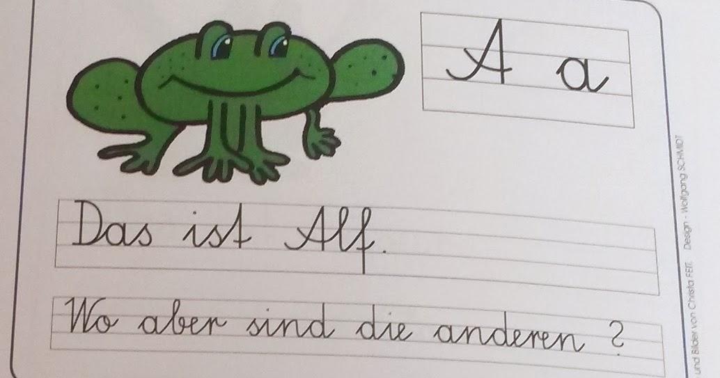 Teaching on the brightside frosch schreibschriftkartei - Frosch auf englisch ...
