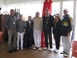 Els 3 primers classificats Copa ACPP Parelles Mixtes 2011 P&P El Vendrell