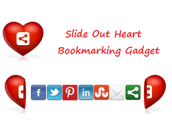 Slide Open Heart Shaped ShareThis Widget For Blogger
