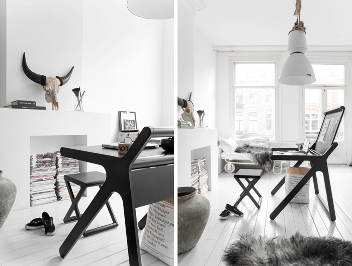 Rafa-kids K desk in black photo/styling Paulina Arcklin