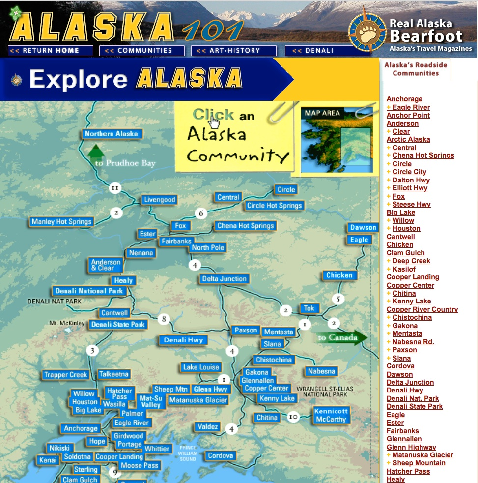 Bearfoot's Alaska101 Community Website