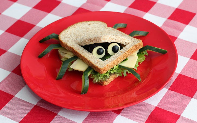 Food Design Ideas food design and decoration ideas for easter table Spider Sandwiches