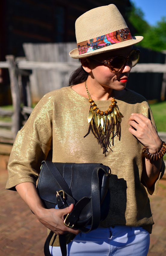 How to style a metallic top