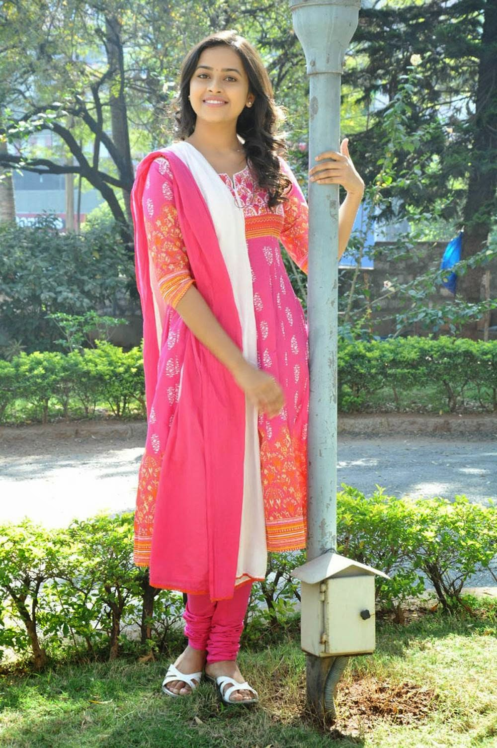 Sri Divya Latest Photo Gallery in Salwar Kameez at Varadhi ...